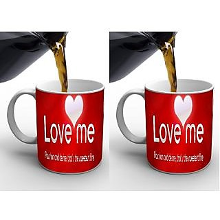 Love me digital printed mug