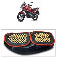 Capeshoppers Wooden Bead Seat Cover For Bajaj Discover 150 F