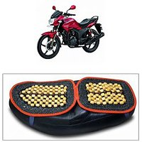 Capeshoppers Wooden Bead Seat Cover For Hero MotoCorp Hunk Single Disc