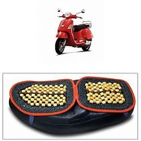 Capeshoppers Wooden Bead Seat Cover For Vespa Scooty