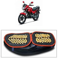 Capeshoppers Wooden Bead Seat Cover For Hero MotoCorp Glamour