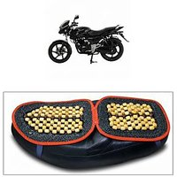 Capeshoppers Wooden Bead Seat Cover For Bajaj Pulsar 150cc Dtsi