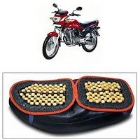 Capeshoppers Wooden Bead Seat Cover For Hero MotoCorp AMBITION