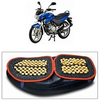 Capeshoppers Wooden Bead Seat Cover For Bajaj Discover 150