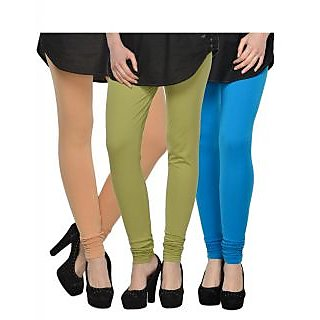 Set of 3 Kjaggs Cotton Lycra Legging KTL-TP-16-17-9