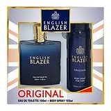 English Blazer Blue EDT 100ml + FREE Body Spray 150ml