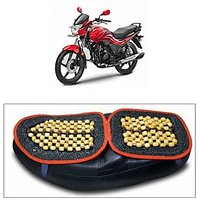 Capeshoppers Wooden Bead Seat Cover For Hero MotoCorp Passion Pro Tr