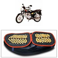 Capeshoppers Wooden Bead Seat Cover For Bajaj CALIBER