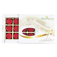 Ghasitarams Sugarfree Strawberry Roses 12 Pcs White Box