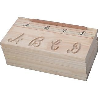 Carving Board Alphabet Capital Cursive