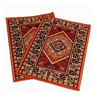 combo pack of 2 non slippery beauityful door mat  r1042