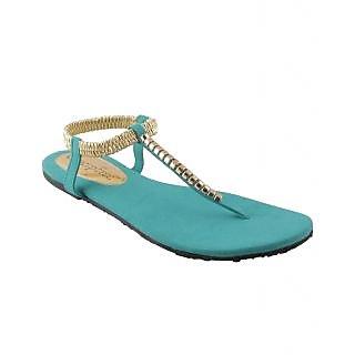 Conceptree Sea Green Flat Sandals