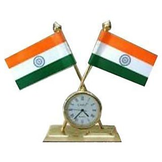Buy Indian Flag With Clock For Office Car Home At Rs 70 Only