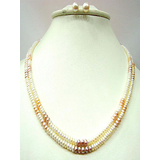 Trendy Souk Dual Coloured Real Pearls Necklace Set available at ShopClues for Rs.2561