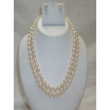 Laaibah Pearls Aristocratic Pearls Double String Necklace Set