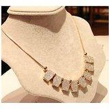 Matting Diamonds Pendants Embellished Necklace