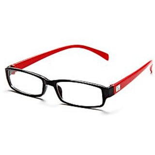 Avoke Black-Red Frame Rectangle Unisex Eyeglasses