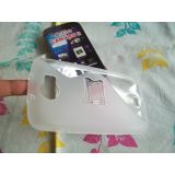 Micromax Superfone A110 Canvas 2 Silicon Back Cover Case with stand - transparent white