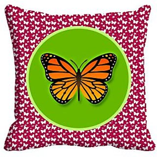 Butterfly Digitally Printed Cushion Cover (16x16)