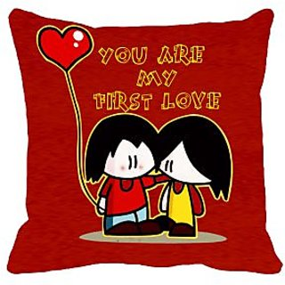 meSleep You Are my first love   Digitally Printed 16x16 inch Cushion Cover
