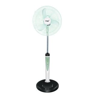 Eveready 16 Inches RF05 406 Mm Rechargeable Pedestal Fan White