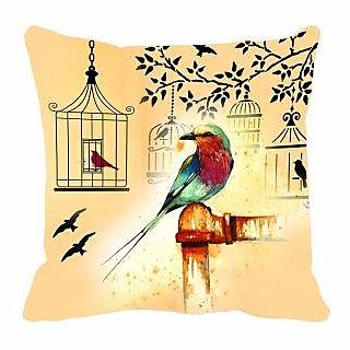 meSleep Sparrow Digitally Printed 16x16 inch Cushion Cover