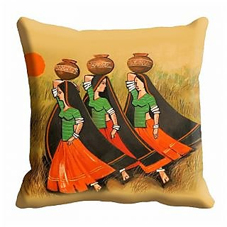 meSleep Painting Digitally Printed  16x16 inch Cushion Cover