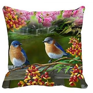 meSleep Birds Digitally Printed Cushion Cover (16x16)