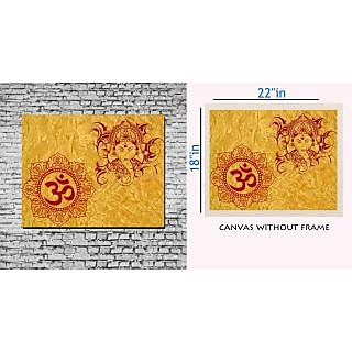 Canvas Painting Without Frame - Om Ganpati