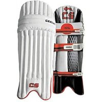 Ceela Classic Men Men Batting Pads (White, Black, Ambidextrous)