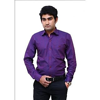 Benzoni Purple Checks Shirt