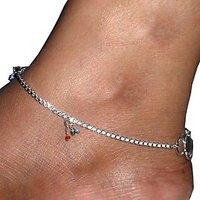 Beadworks German Silver Gillet Anklet