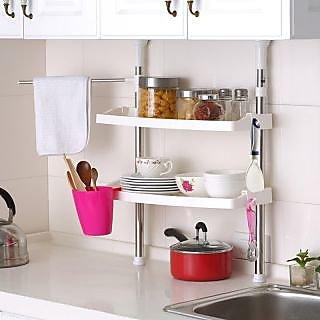 Kawachi Multifunction Home Stainless Steel Kitchen Shelving Storage Rack Dish Rack