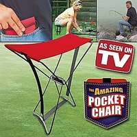 New Foldable Pocket Chair Portable Stool Chair For Camping Fishing + Carry Case