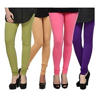 Kjaggs Multi-Color Cotton Lycra Full length legging (KTL-FR-16-17-18-7)