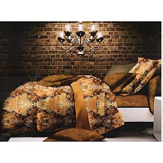 Valtellina Ikat Design King Size 3Pcs  Bedsheet Set (ECD-018)