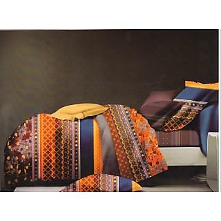 Valtellina Ikat Design King Size 3Pcs  Bedsheet Set (ECD-021)