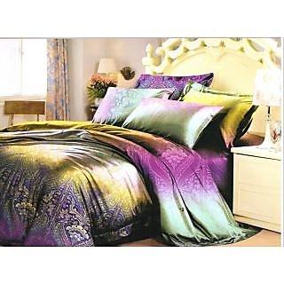 Valtellina Damask Design King Size 3Pcs  Bedsheet Set (ECD-024)