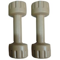 Body Maxx Grey PVC Coated Home Gym Dumbbells Set 1 Kg x 2 Pcs