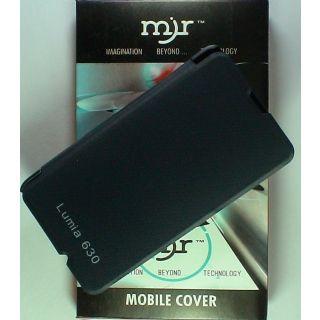 MJR Flip Cover For Nokia Lumia 630 Black + Screen Guard FREE