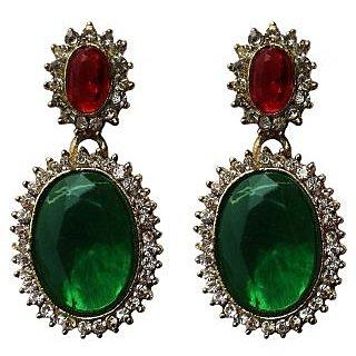 Fashion Green Drop Earrings - 10025