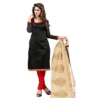 Stepin Chanderi Self Design, Printed Salwar Suit Dupatta Material (Unstitched)