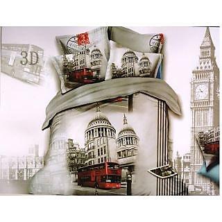 Valtellina Big Bin Print King Size 3Pcs  Bedsheet Set (BOD-07)