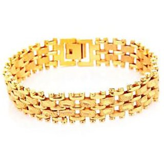 Goldnera Stylish Yo Yo Gold Plated Mens Adjustable Bracelet