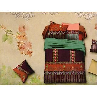 Valtellina Traditioal Design 3d King Size 3Pcs  Bedsheet Set (BOD-15)