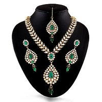 Floral Kundan Heavy Jadau Necklace Set
