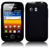 SILICONE BACK COVER SKIN CASE FOR SAMSUNG GALAXY Y S5360 -BLACK