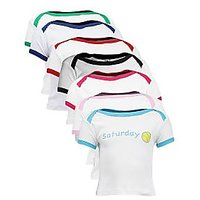Goodway New Born Daily Theme Combo Pack of 7 T-Shirts