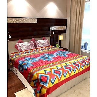 Homefab India Designer Double Bed AC Blanket (CRL100)