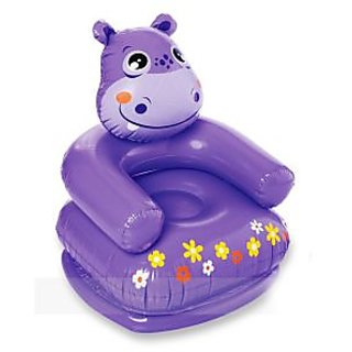 Intex Kids Toy Inflatable Animal Shaped Hippo Sofa Chair